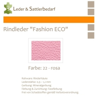 Rindleder Fashion-ECO - 1/4 Haut - 22 rosa