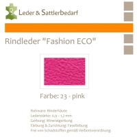 Rindleder Fashion-ECO - 1/4 Haut - 23 pink