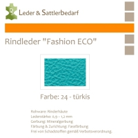 Rindleder Fashion-ECO - 1/4 Haut - 24 türkis