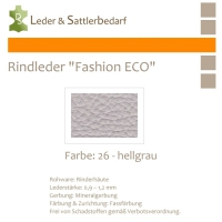 Rindleder Fashion-ECO - 1/4 Haut - 26 hellgrau