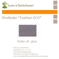 Rindleder Fashion-ECO - 1/4 Haut - 28 grau
