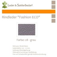 Rindleder Fashion-ECO - 1/2 Haut - 28 grau