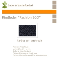 Rindleder Fashion-ECO - 1/4 Haut - 30 anthrazit