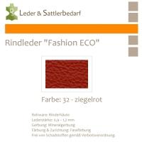 Rindleder Fashion-ECO - 1/4 Haut - 32 ziegelrot