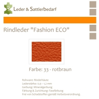 Rindleder Fashion-ECO - 1/4 Haut - 33 rotbraun