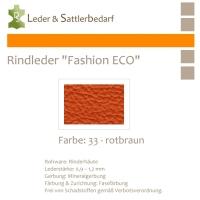 Rindleder Fashion-ECO - 1/2 Haut - 33 rotbraun