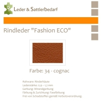 Rindleder Fashion-ECO - 1/4 Haut - 34 cognac