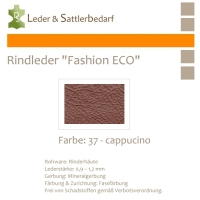 Rindleder Fashion-ECO - 1/2 Haut - 37 cappucino