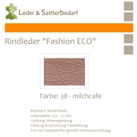 Rindleder Fashion-ECO - 1/4 Haut - 38 milchcafe