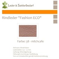 Rindleder Fashion-ECO - 1/2 Haut - 38 milchcafe