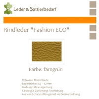 Rindleder Fashion-ECO - 1/2 Haut - 3 farngrün