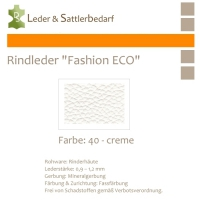 Rindleder Fashion-ECO - 1/4 Haut - 40 creme