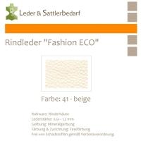 Rindleder Fashion-ECO - 1/2 Haut - 41 beige