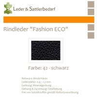 Rindleder Fashion-ECO - 1/2 Haut - 42 schwarz