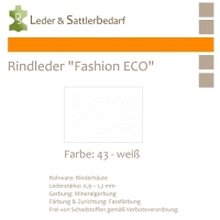 Rindleder Fashion-ECO - 1/2 Haut - 43 weiß