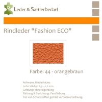 Rindleder Fashion-ECO - 1/4 Haut - 44 orangebraun