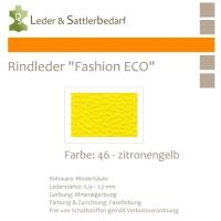 Rindleder Fashion-ECO - 1/4 Haut - 46 zitronengelb