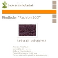 Rindleder Fashion-ECO - 1/4 Haut - 48 aubergine 2