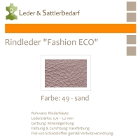 Rindleder Fashion-ECO - 1/4 Haut - 49 sand