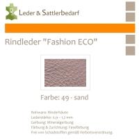 Rindleder Fashion-ECO - 1/2 Haut - 49 sand