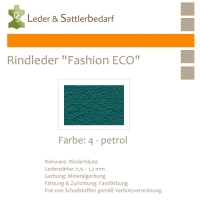 Rindleder Fashion-ECO - 1/4 Haut - 4 petrol