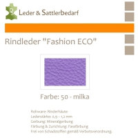 Rindleder Fashion-ECO - 1/4 Haut - 50 milka