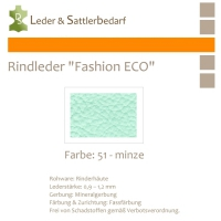 Rindleder Fashion-ECO - 1/4 Haut - 51 minze
