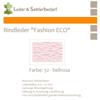 Rindleder Fashion-ECO - 1/4 Haut - 52 hellrosa