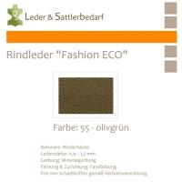 Rindleder Fashion-ECO - 1/4 Haut - 55 olivgrün