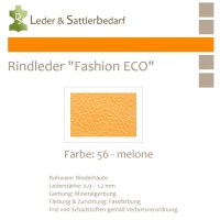 Rindleder Fashion-ECO - 1/4 Haut - 56 melone