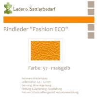 Rindleder Fashion-ECO - 1/4 Haut - 57 maisgelb