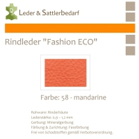 Rindleder Fashion-ECO - 1/4 Haut - 58 mandarine