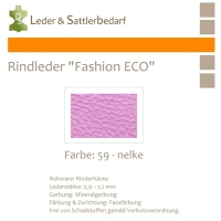 Rindleder Fashion-ECO - 1/4 Haut - 59 nelke