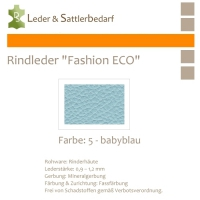 Rindleder Fashion-ECO - 1/4 Haut - 5 babyblau