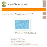 Rindleder Fashion-ECO - 1/4 Haut - 6 himmelblau