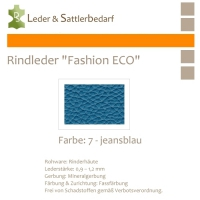 Rindleder Fashion-ECO - 1/4 Haut - 7 jeansblau
