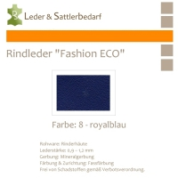 Rindleder Fashion-ECO - 1/4 Haut - 8 royalblau