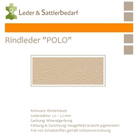"Rind-Möbelleder ""POLO"" - 7525 sabbia"