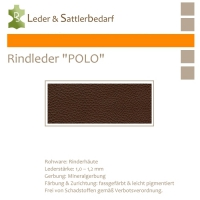 Rind-Möbelleder POLO - 7538 marone