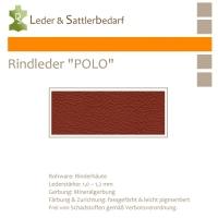 "Rind-Möbelleder ""POLO"" - 7558 brickred"