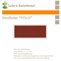 Rind-Möbelleder POLO - 7558 brickred