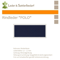 "Rind-Möbelleder ""POLO"" - 7565 oceano"