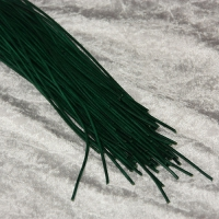 Rindleder Rundriemchen Ø 2mm - dunkelgrün