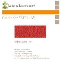 Rindleder STELLA - 4004 rot - DinA3