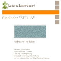 Rindleder STELLA - 72 hellblau - DinA3