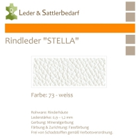 Rindleder STELLA - 73 weiß - DinA3