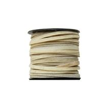 Rohhaut Endlosriemen 3mm - Rolle - natur