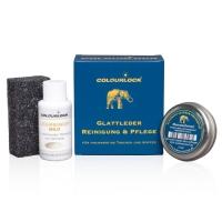 COLOURLOCK® Handtaschen und Kofferpflege Set (30 ml Lederreiniger mild, 15 g Elephant Lederfett)