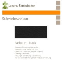 Schweinsvelour - black
