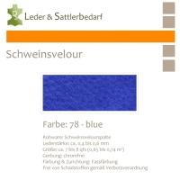 Schweinsvelour - blue
